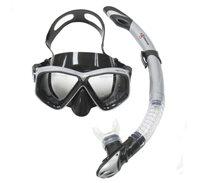 Komplet maska i dihalica EXTREME SUB 28554S, silikon, kaljeno staklo, crna