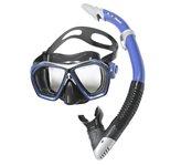 Komplet maska i dihalica EXTREME SUB 29441, silikon, kaljeno staklo, plava