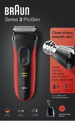 Aparat za brijanje BRAUN 3050  CRVENI