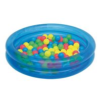 Bazen BESTWAY, 2 Ring Ball Pit Play Pool, 91x91x20cm, 73l, sa lopticama, na napuhavanje, plavi