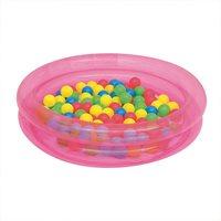 Bazen BESTWAY, 2 Ring Ball Pit Play Pool, 91x91x20cm, 73l, sa lopticama, na napuhavanje, rozi
