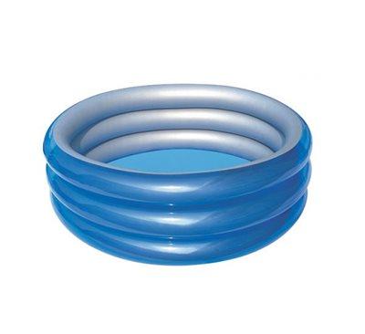 Bazen BESTWAY, Big Metalic 3-Ring Pool, 170x170x53cm, 697l, na napuhavanje