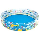 Bazen BESTWAY, Deep Dive 3-Ring Pool, 183x183x33cm, 480l, na napuhavanje
