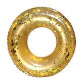 Kolut za plivanje EASY FLOAT, Glitter, zlatni, 102cm, na napuhavanje