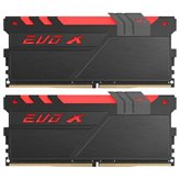 Memorija PC-19200, 16 GB, GEIL EVO X Black GEXB416GB2400C15DC, DDR4 2400MHz, kit 2x8GB