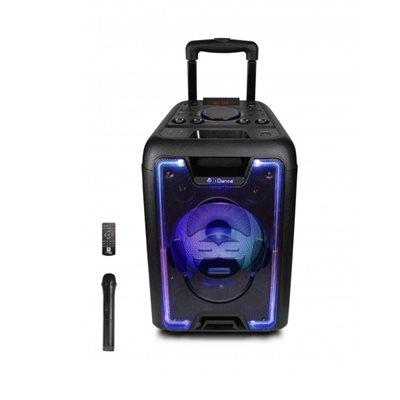 Karaoke iDANCE MEGABOX 1000, 200W, disco LED, FM, bluetooth, bežični mikrofon, crne