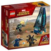 LEGO 76101, Marvel Super Heroes, Outrider Dropship Attack, napad Outriderova broda