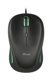 Miš TRUST Compact Yvi FX, optički, 1600dpi, USB, crni