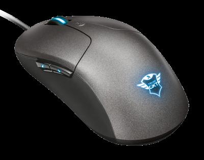 Miš TRUST GXT 180 Kusan, optički, gaming, 5000dpi, sivi