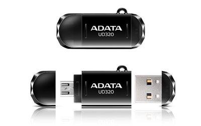 Memorija USB FLASH DRIVE, 64 GB, ADATA UD320, AUD320-64G-RBK, OTG funkcija, crna