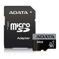 Memorijska kartica ADATA, micro SD, 64 GB, AUSDX64GUI3V30G-RA1, UHS-I U3 V30G + adapter