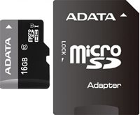Memorijska kartica ADATA, micro SDHC, 16 GB, AUSDH16GUICL10-RA1, Class 10 UHS + adapter