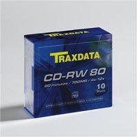 Medij CD-RW TRAXDATA 12x, 700MB, slim, 10 kom
