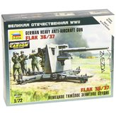 Maketa ZVEZDA, German Heavy Anti-Aircraft Gun FlaK 36/37, 1:72
