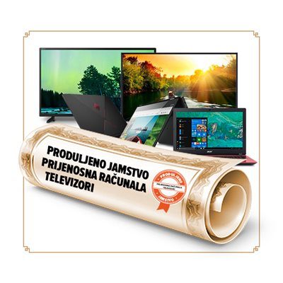 Produljeno jamstvo za prijenosno računalo / stolno računalo / monitor / igraću konzolu / TV sa 36 na 60 mjeseci - vrijednosti uređaja 1001-1500 kn