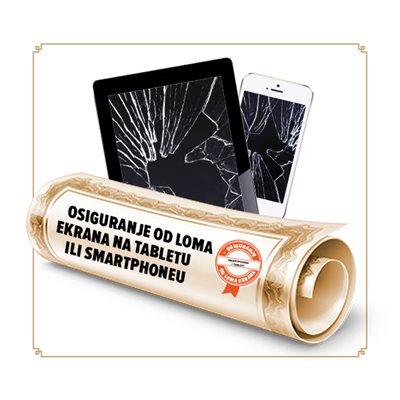 Osiguranje od loma ekrana smartphone-a/ tableta u trajanju od 12 mjeseci - vrijednosti uređaja 1001-2000 kn