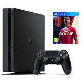 Igraća konzola SONY PlayStation 4, 500GB, Slim E Chassis + FIFA 18 PS4 + DualShock 4 v2, bežični, crni