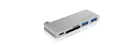Docking station ICY BOX IB-DK4035-C, 2x USB 3.0, 1x USB-C, SD 3.0, micro SD, za notebook