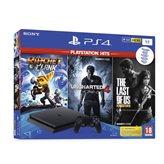 Igraća konzola SONY PlayStation 4, 1000GB, Slim, Uncharted 4, The Last of Us, Ratchet & Clank, crni