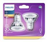 LED žarulja PHILIPS, GU10, 3.5W, 2700K, 2 komada