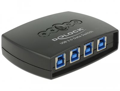 Switch DELOCK, USB 3.0, LAN, 4-port