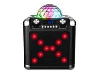 Karaoke iDANCE BC100L, 50W, disco LED, mikrofon, daljinski upravljač, crne