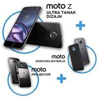 """Smartphone MOTOROLA Moto Z XT1650-03 SS, 5.5"""", 4GB, 32GB, Android 6.0, crni + projektor + baterija"""
