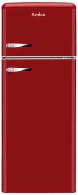 Hladnjak AMICA KGC15630R, A++, kombinirani, retro, crvena
