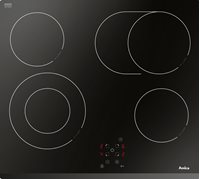 Ugradbena ploča AMICA PC6411PT, staklokeramika, crna