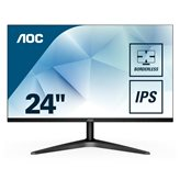 "Monitor 23.8"" LED AOC 24B1XH, FHD, IPS, 7ms, 250cd/m2, 20.000.000:1, D-Sub, HDMI, crni"