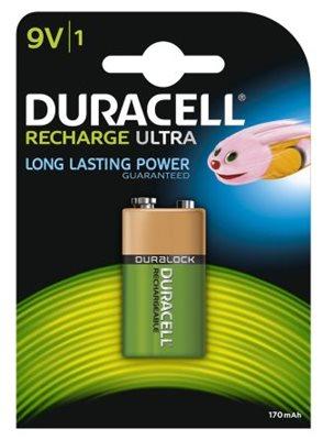 Baterija DURACELL 150mAh, NiMH 9V, punjiva