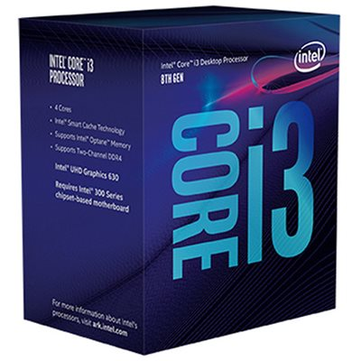 Procesor INTEL Core i3 8100, s. 1151, 3.6GHz, 6MB cache, GPU, Quad Core