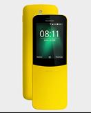 "Mobitel NOKIA 8110 2017 DS, 2.4"", 512MB RAM, 4GB, MicroSD, Dual SIM, kamera, žuti"