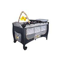 Dječji krevetić PRIMEBEBE, Prestige, do 18kg, prijenosni, sivi