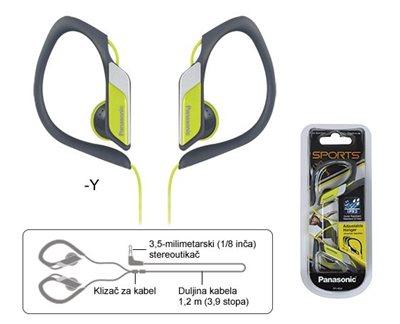Slušalice PANASONIC RP-HS34E-Y, in-ear, žute