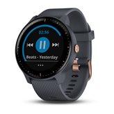 Sportski sat GARMIN Vivoactive 3 Music, senzor otkucaja, multisport, garmin Pay, sivo-plavi s ružičasto-zlatnim