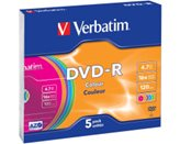 Medij DVD-R VERBATIM 16x, 4.7GB, Pastell Colours, 5 komada