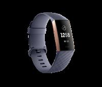 Narukvica FITBIT Charge 3, mjerenje aktivnosti, senzor otkucaja, vodootporna, ružičasto zlatni/ sa sivim