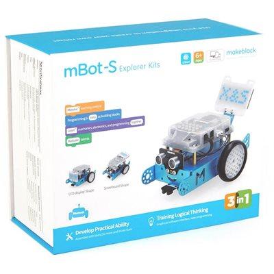 Robot MAKEBLOCK mBot S, explorer kit, STEM edukacijski set za djecu, plavi