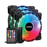 Ventilator SAMA PC RGB Rainbow kit, 120mm, 1200 okr/min