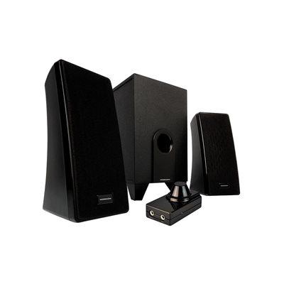 Zvučnici MODECOM MC-S2, 2.1, 10W, crni