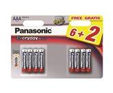 Baterija PANASONIC LR03EPS/8BW, AAA, 6+2 kom