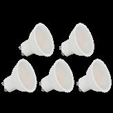 Set LED žarulja V-TAC bijela plastična, 3W,4000K,GU10, 5 komada