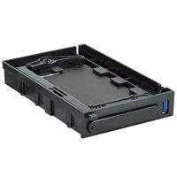 """Eksterno kućište SILVERSTONE SST-MS06B, 2.5"""" SATA, USB 3.0, crno, ladica za 3,5"""" utor"""