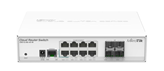 Router MIKROTIK CRS112-8G-4S-IN, 400MHz CPU, 128MB RAM, 10xGLAN, 4xSFP, Cloud, RouterOS L5, PSU