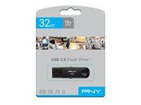 Memorija USB 3.0 FLASH DRIVE, 32 GB, PNY Attaché, FD32GATTC30KTRK-EF, crna