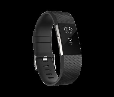 Narukvica USED  FITBIT Charge 2 HR,vel. L, senzor otkucaja srca, connected GPS, crno/srebrna