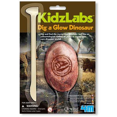 Kreativni set 4M, Dig A Glow Dinosaur, iskopaj svjetlećeg dinosaura