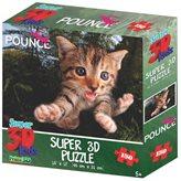 Slagalica HOWARD ROBINSON, Super 3D Puzzle, Maca Fuzzbucket, 150 komada
