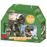 Slagalica NATIONAL GEOGRAPHIC, Super 3D Kids Puzzle, Dinosauri, 3u1, 100 komada